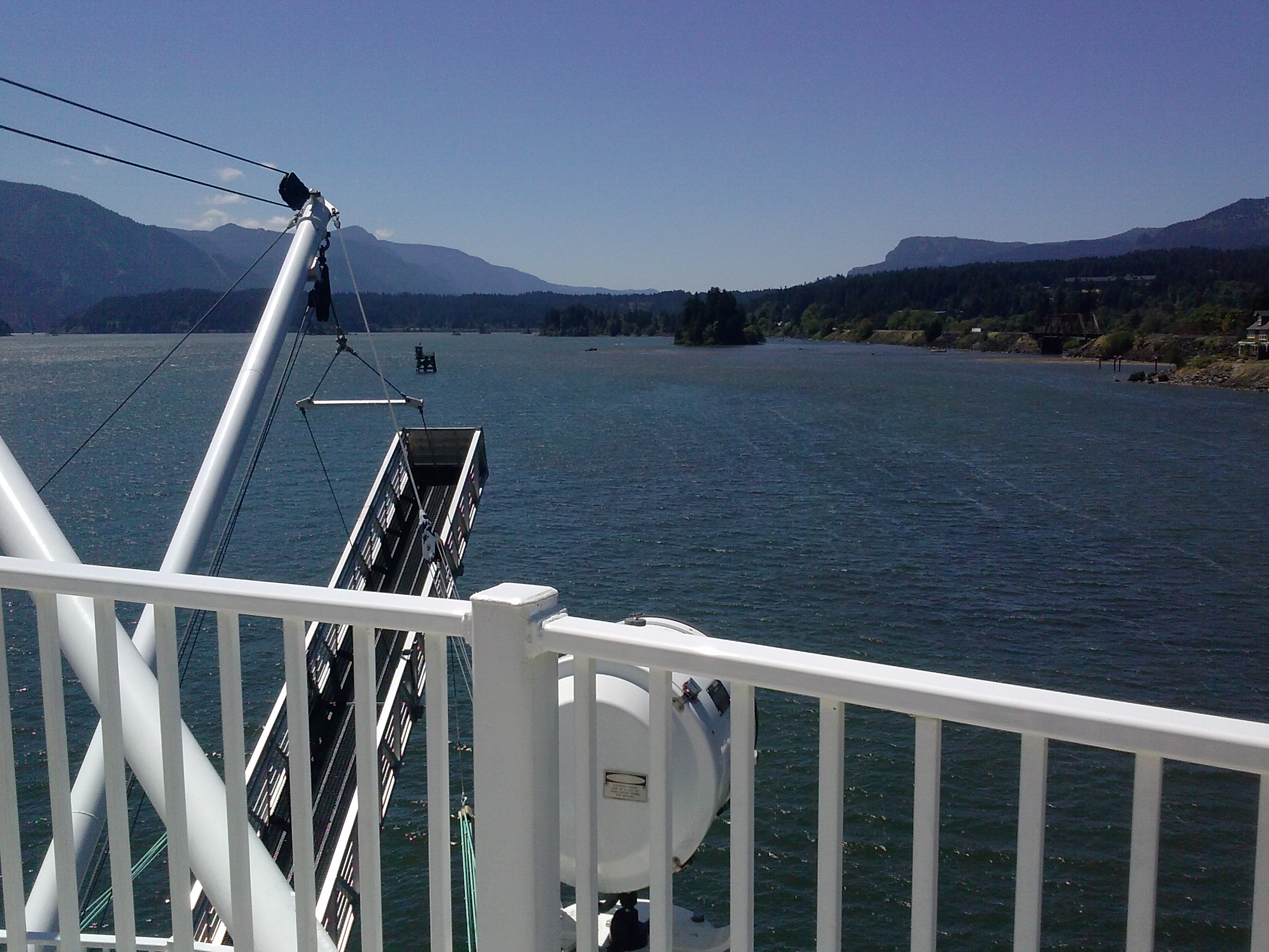 View of the Gorge from the American Empress' Pilot House. Photo by Ashley Whitham