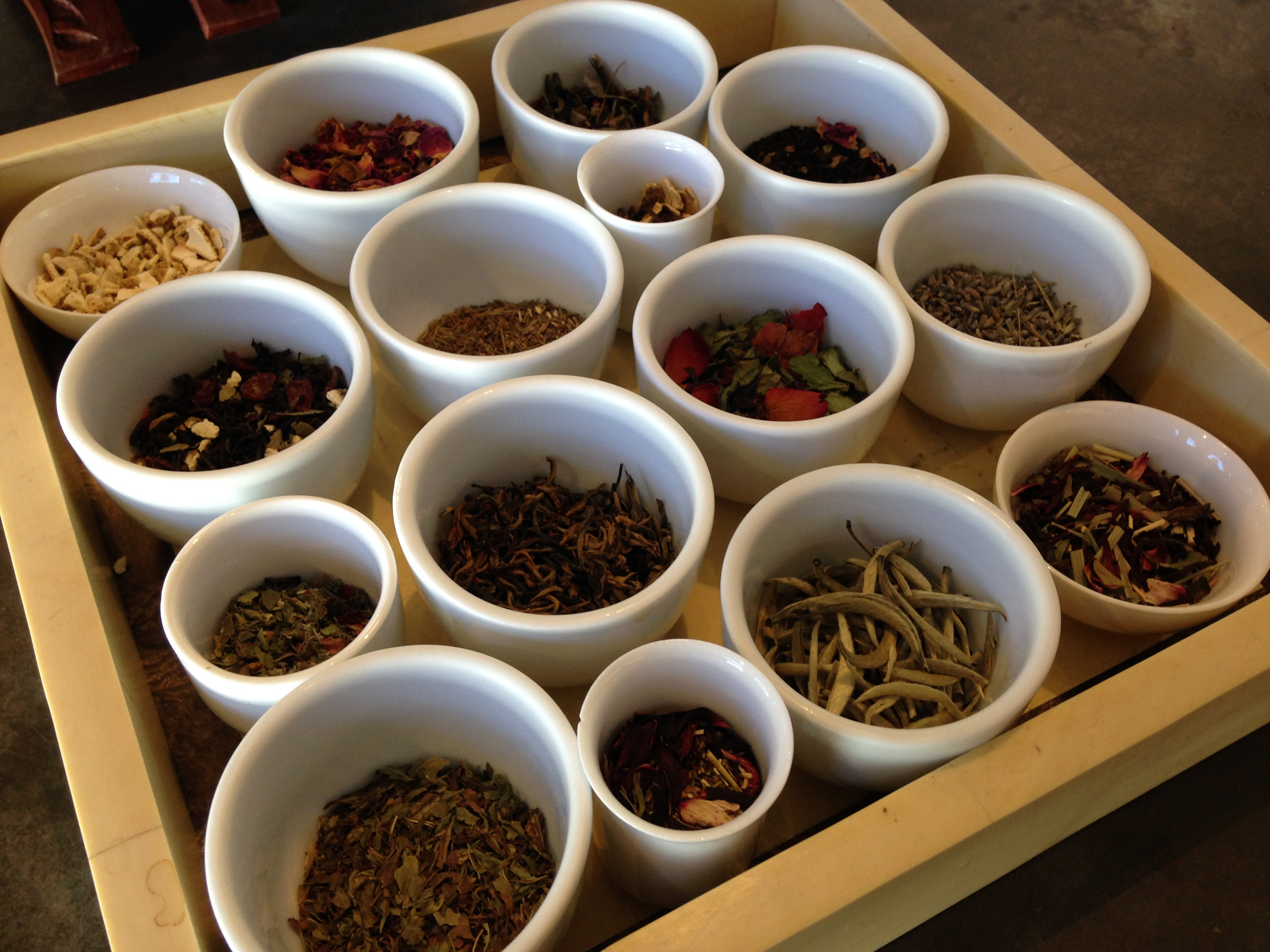 Loose leaf teas and tea blends, photo by Carrie Uffindell