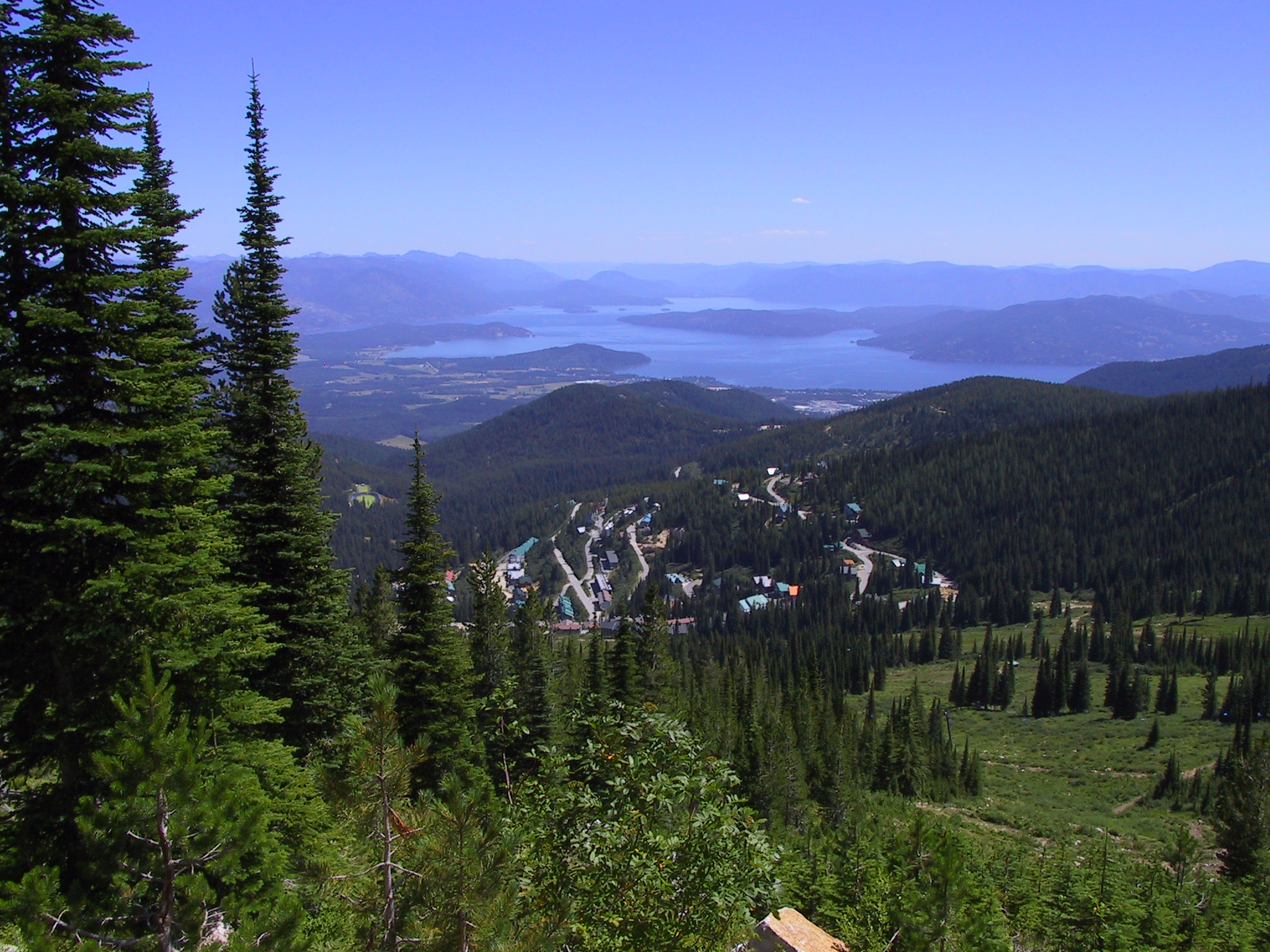 Sandpoint Idaho from Schweitzer photo by Alvin Feng via Flickr Creative Commons