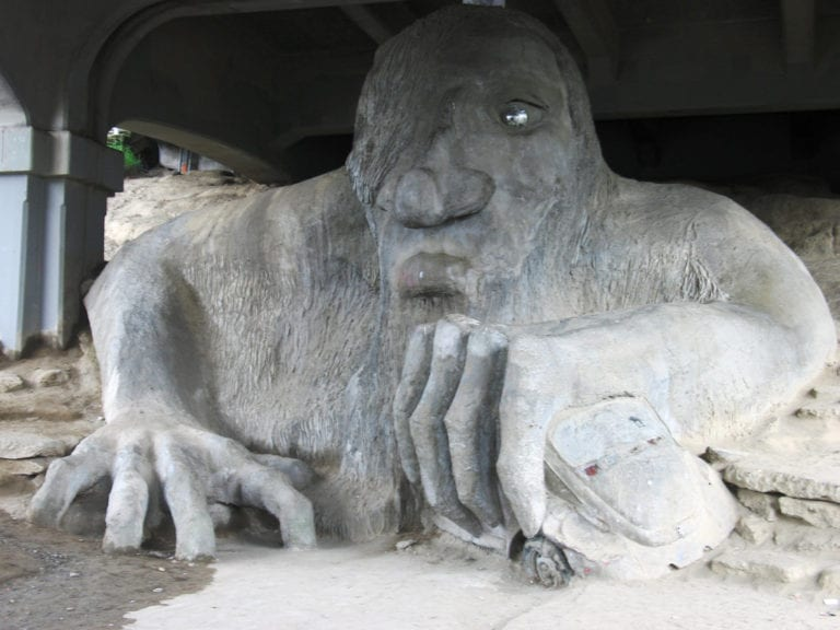 northwest roadside attraction: fremont troll