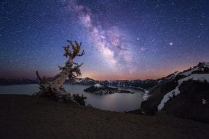 Starry Night at Oregon's Crater Lake: The Northwest Photo of the Week