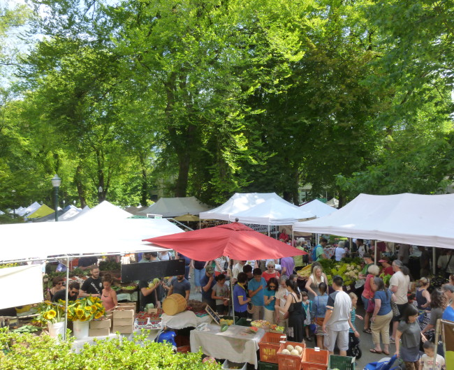 Portland Farmer's Market at Portland State University