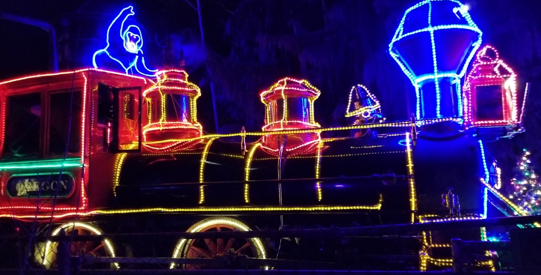 Zoo Lights Oregon Zoo Train Washington Park Railway Steam Engine