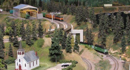 Lewis River Model Railroad at Historical Museum in Chehalis