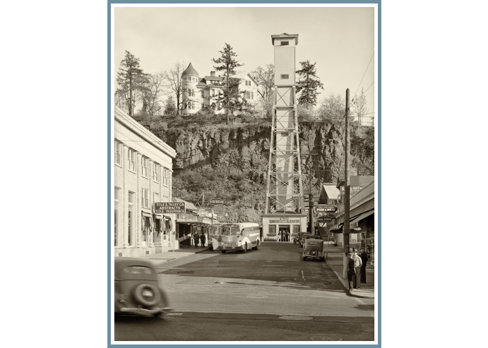 historic ol Oregon City Elevator