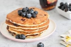 blueberry pancakes stack