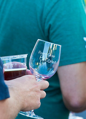 forest grove uncorked wineglass