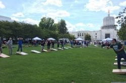 salem cornhole contest on state capital grounds