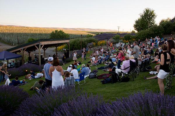 music in the vine concert gilbert cellars winery yakima washington