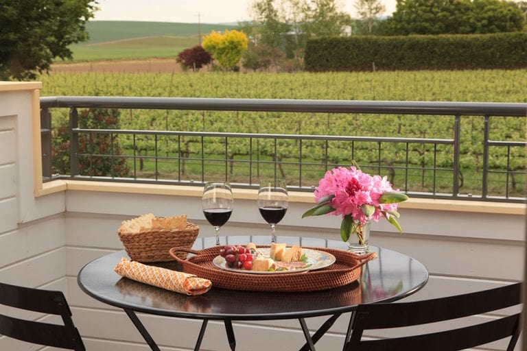 breakfast at abeja winery in walla walla washington