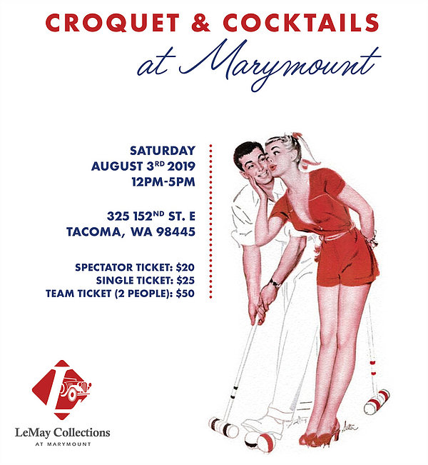 LeMay Croquet & Cocktails fundraiser in Tacoma, WA