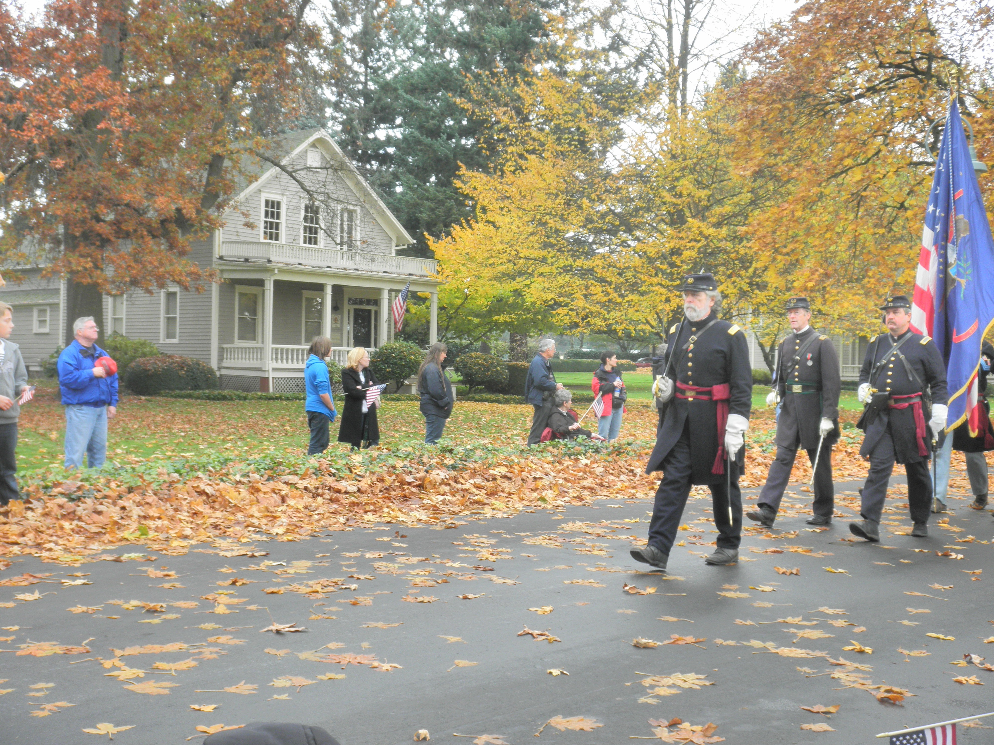 Veteran's Day parade along Officer's Row at Fort Vancouver National Historic Site