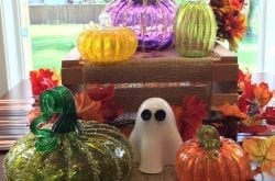 glass pumpkins created by tacoma glass blowing studio