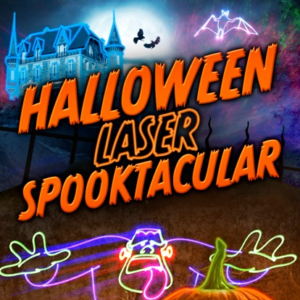 Eugene Halloween laser light show spooktacular