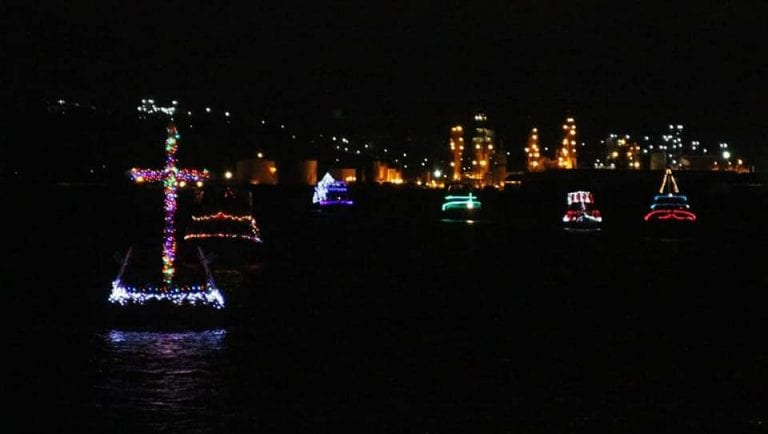 Festival of Lighted Boat Christmas on the Columbia River in Kalama WA