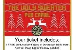 Bend Oregon Ugly Sweater holiday pub crawl