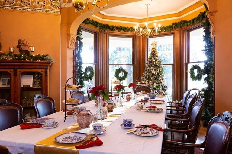 The Marshall House Officers Row Vancouver holiday tea