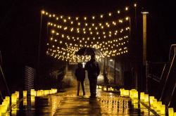 Redmond WA Christmas holiday lights luminary walk