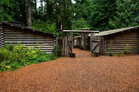 Fort Clatsop, winter encampment of Lewis & Clark Expedition near Astoria, Oregon